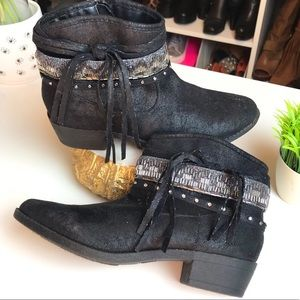✨ Girls Justice Embellished Low Heeled Booties ✨
